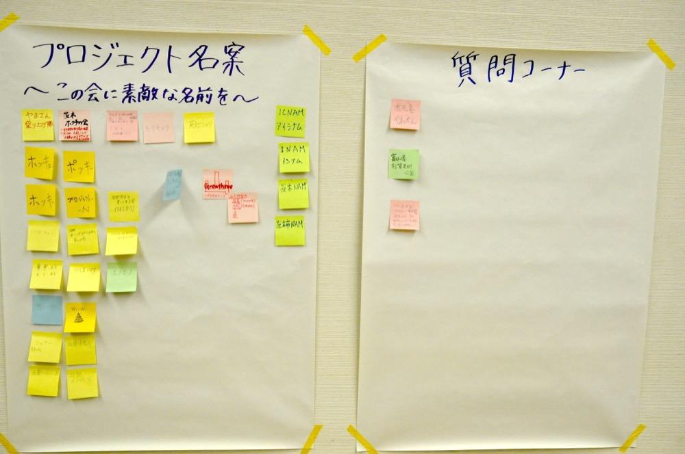 プロジェクト名案と質問