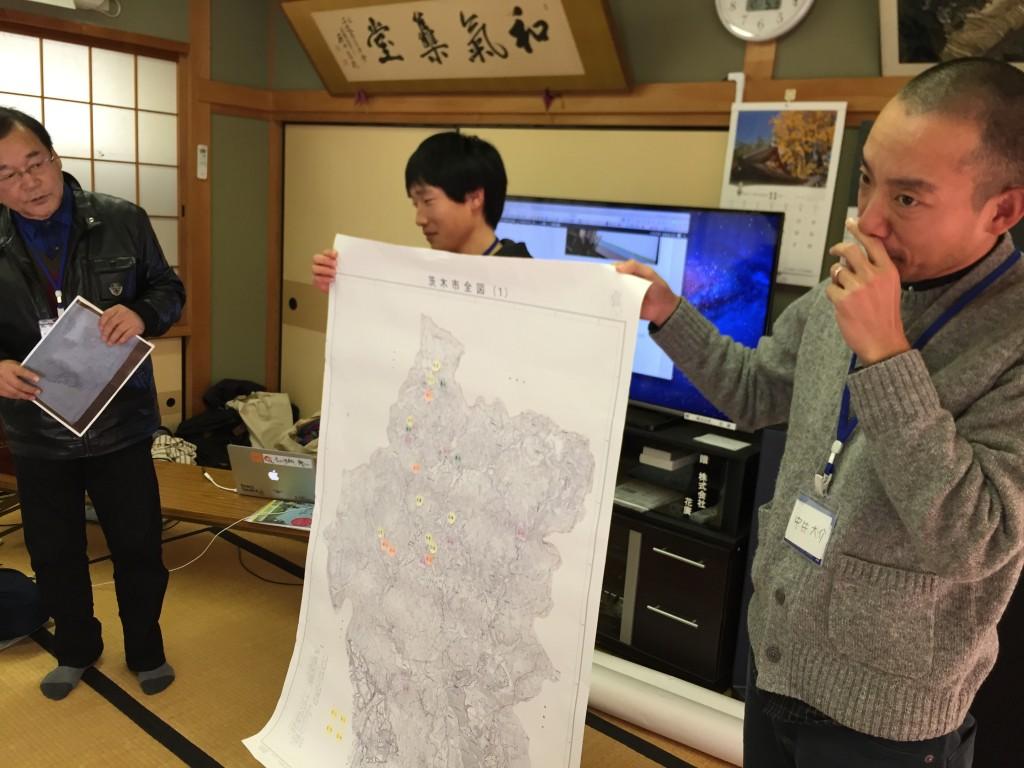 茨木ほくちの会の白地図分布図